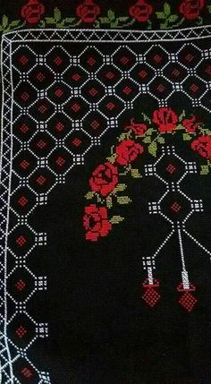This Pin was discovered by Tur Cross Stitch Designs, Cross Stitch Patterns, Palestinian Embroidery, Prayer Rug, Cross Stitch Flowers, Hama Beads, Cross Stitch Embroidery, Bohemian Rug, Diy And Crafts