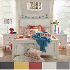 IQ KIDS Preston Queen-Sized Wood Panel Headboard bed - 18693416 - Overstock.com Shopping - Great Deals on INSPIRE Q Kids' Beds