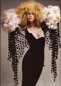 Julia Stegner in Jean Paul Gaultier fall 2005 couture black dress!