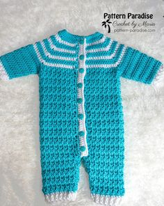 Free Crochet Pattern: Snug As A Bug Baby Onesie (Pattern Paradise) Crochet Toddler, Crochet Baby Clothes, Crochet For Boys, Free Crochet, Boy Crochet Patterns, Crochet Baby Sweater Pattern, Baby Patterns, Cloth Patterns, Sewing Patterns