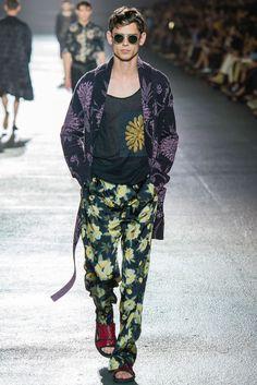 This Dries Van Noten Menswear Collection Boasts Floral Print Fashion #menswear #fashion trendhunter.com