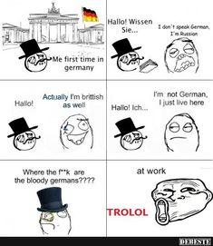 Zum ersten Mal in Deutschland | Lustige Bilder, Sprüche, Witze, echt lustig