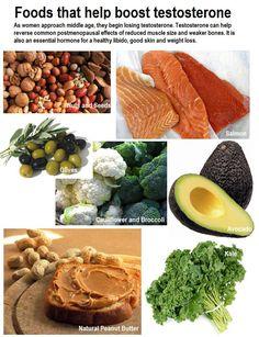 foods increase testosterone levels men
