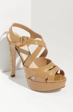 Dior Metal Cannage Heel Platform Sandal