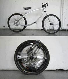 I like the concept of folding bikes. Spoked wheels seem more stable for rough city streets. Too bad they're so expensive.