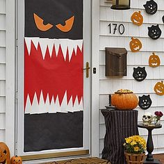 halloween inspiration silly monster and ghost doors and more glass panels front doors and school door decorations