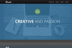 Passio Flat bootstrap template by Themespixel on Creative Market