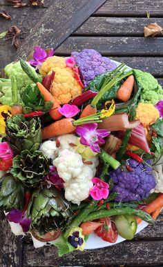 Vegetable flower display -creative! veget flower, flower displays
