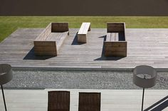 Outdoor furniture Les Heures Claires house by Aabe in Belgium