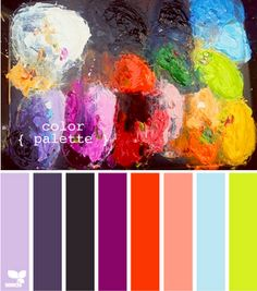 color palette for my future craft room...tons of bright colors to encourage creativity!