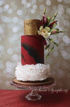 Oriental Elegance Beautiful Wedding Cakes, Gorgeous Cakes, Pretty Cakes, Amazing Cakes, Unique Cakes, Elegant Cakes, Modern Cakes, Wedding Cake Inspiration, Wedding Cake Designs