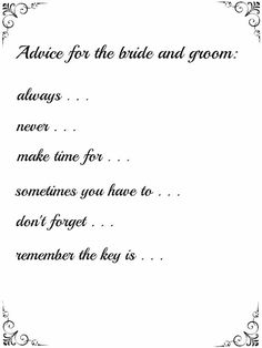 Advice for the bride and groom, Wedding Guestbook, Printable Art, Digital…