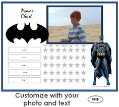 Batman Behavior Chart  Ideas For Dayvion    Behaviour