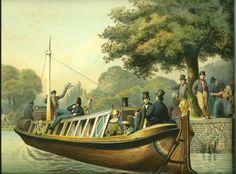 Trekschuit omstreeks 1850. R. de Vries (1813-1874) - Scheepvaartmuseum