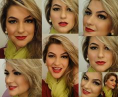 Black eyeliner & Red lipstick!