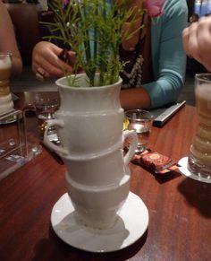 Repurposing teacups & saucers.