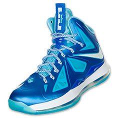 Nike LeBron X+ Men's Basketball Shoes | Blue Diamond
