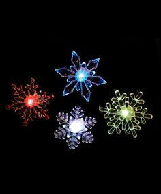 Love this LED Window Snowflake Set on #zulily! #zulilyfinds