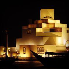 Qatar at night.