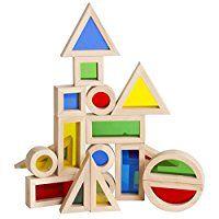 Guidecraft Jr. Rainbow Block 20 Piece Set: Toys & Games