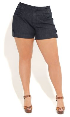 City Chic CLASSIC CUTIE SHORT SHORT- Women's Plus Size Fashion