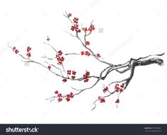 Image result for cherry tree branch painted