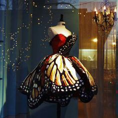 Monarch Butterfly Dress --- This would make an amazing Halloween costume. Or perhaps be the perfect outfit for a costume ball! It just needs one of those lovely little masquerade handheld masks on a stick. Ballet Costumes, Dance Costumes, Halloween Costumes, Women Halloween, Halloween Dress, Easy Halloween, Halloween Crafts, Halloween Party, Ballerina Costume