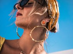 Discover our Katerina Psoma statement earrings that make heads turn. Find the perfect pair from our wide range of dangles with stones, gold plated hoops and more. Statement Earrings, Women's Earrings, Editorial Fashion, Studs, Dangles, How To Wear, Gold, Accessories, Jewelry