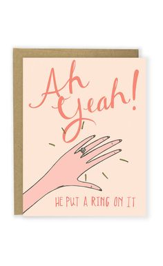 Celebrate an engagement with a card Beyonce would approve. #etsy #weddings