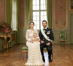 Prince Carl Philip and Princess Sofia of Sweden with Prince Alexander at the baby's christening. Stockholm. September 9 2016