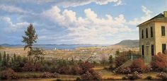 Hobart Town taken from the garden where I lived, 1832 australian early colonial artists john glover - Google Search