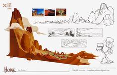 Cheryl B. Bg Design, Prop Design, Landscape Concept, Landscape Art, Animation Portfolio, Digital Art Tutorial, Environment Concept Art, Environmental Design, Visual Development