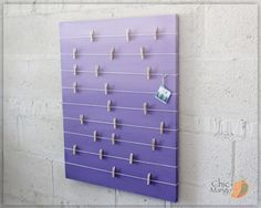 Bulletin Board , Memo Holder , Purple Ombre , Kids Room Decor , Teens Room Decor , Card Display , Office Bulletin Board, Girls room Wall Art by ChicMango on Etsy
