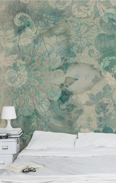 Bilderwelten Vliestapete Quadrat »Eisblumen« #Schlafzimmer #Bett #Ideen  #Wandgestaltung Christoph Baum