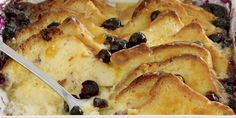 Recipe for Blueberry Bread and Butter Pudding