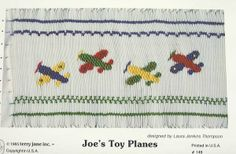 TJC - Joe�s Toy Planes, Smocking Pattern by Terry Collins