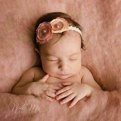Vintage pink wool fluff by Ababa Baby Props, newborn photography props Photo credit Jo Rae Mi photography