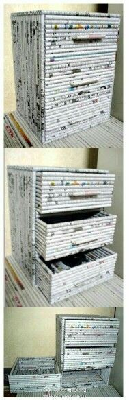 This is made out of paper! Amazing dresser