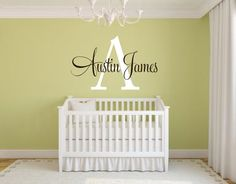 Personalized Monogram Name Initial Wall Vinyl by OZAVinylGraphics