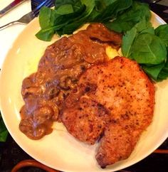 My Signature Dish: Fried Pork Chops with Mashed Potatoes and Sherry Mushroom Gravy delicious dinner recipes