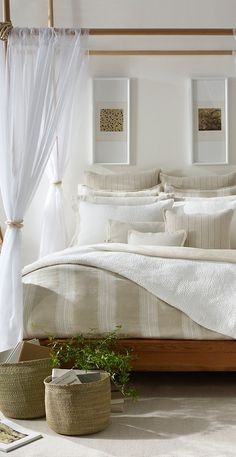 bed#home #decor #rustic #white #vintage #bedroom