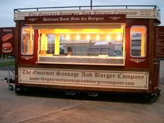 A and R Willis catedring Brand New14ft Tram Style Mobile catering Trailer for Sale / Burger Van