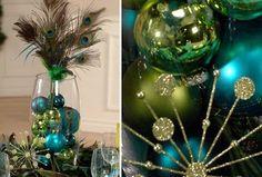 peacock center pieces