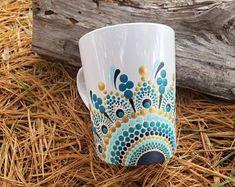 Set De 6 Blanco Espiral forma Porcelana Fina Taza Tazas Beakers