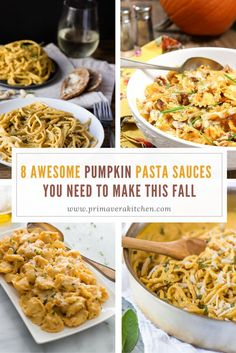 These 8 Awesome Pumpkin Pasta Sauces are the perfect recipes you need to make this fall to celebrate this season. They're delicious, vegan or dairy-free.