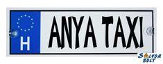 Vicces Anya taxi rendszámtábla Taxi 2, Atari Logo, Nintendo Wii, Logos, A Logo, Legos