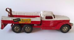 """Rare Vintage All Original Buddy L 6 Wheel Wrecker Truck """"Repair It Unit""""  #BuddyL  Check out other items for sale here: http://www.ebay.com/usr/lostandfoundtreasuresbymedusa http://www.ebay.com/usr/medusamaire http://www.ebay.com/usr/maire1968"""