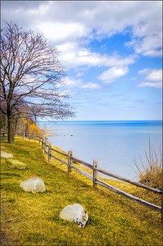 Port Sanilac Scenic Turnout Spring By LeeAnn McLaneGoetz McLaneGoetzStudioLLC.com  April in Michigan means a drive along Lake Huron to take in the spring thaw and ithe icy blue colors. A great stop is the Port Sanilac Scenic Turnout, here you can enjoy the view of the shoreline and the beauty of old maple trees in full Color. Port Sanilac Michigan