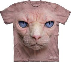 Big Face Hairless Cat T-Shirt  I need this!!