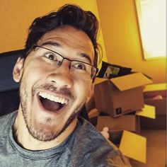 """Swimming in an ocean of love. Behind on work. Gonna be on TV tonight. It's a good hectic life."" - Markiplier"